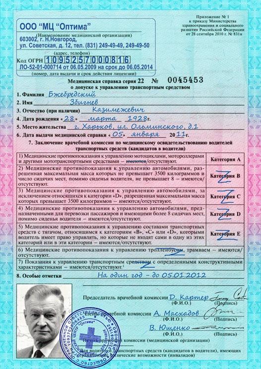 Медицинская справка автошколы спб медицинская справка 286у в москве